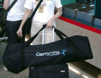 CarryMe Folding Bike at airport