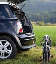 Bigfish folding bike easily fits in a Mini Cooper
