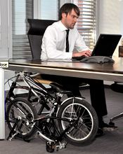 Bigfish folding bike below desk
