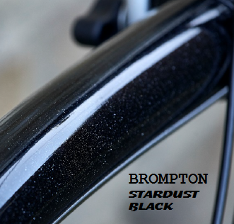 Brompton Stardust Black finish introduced for 2016 model year