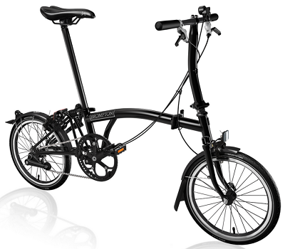 Special Edition Brompton S2L unfolded finished in All Black