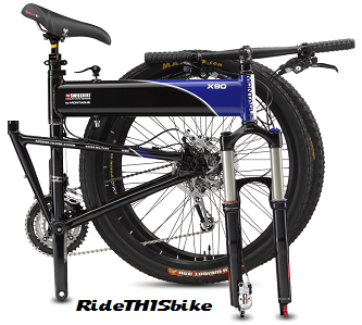 X90 bicycle folded