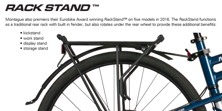 Montague's patented RackStand