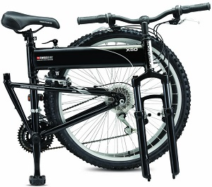 SwissBike X50 bicycle folded