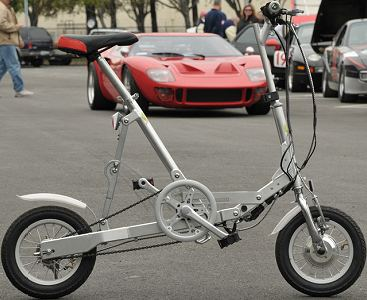 VeloMini folding bike unfolded