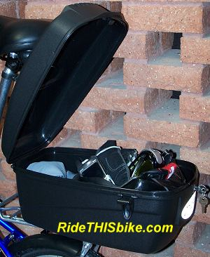 Bicycle trunk - fits on rear carry rack