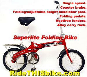 Ultra light folding bike