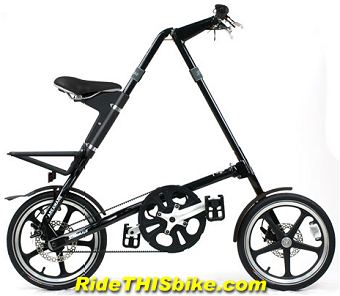 black Strida LT folding bike