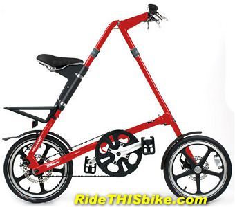 red Strida LT folding bike
