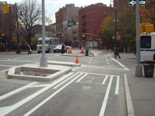 Eighth Avenue Bike Track - New York City