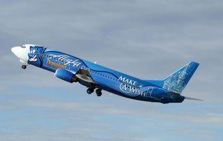 Alaska Airline's Make A Wish plane