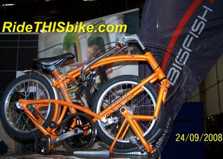 BigFish folding bike at InterBike2008