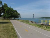 Buffalo's Riverwalk bike path along the Niagara River