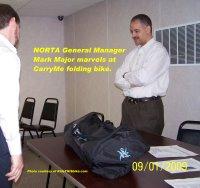 CarryMe folding bike - NORTA meeting