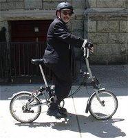 Commute by folding bike