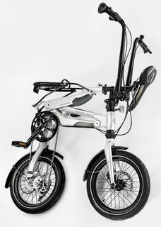 Mercedes Benz folding bike - trolley position