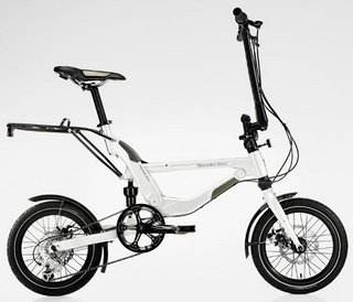 Mercedes Benz folding bike unfolded