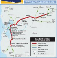 Amtrak Capitol Corridor Route Map