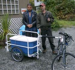 Combination bike tent and cargo trailer