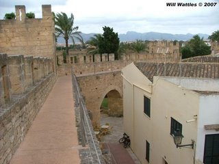 Defensive wall of the old city w/my Montague MX below