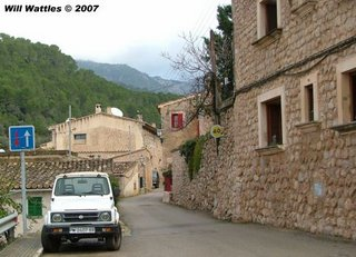 Narrow streets of Bunyola - Mallorca, Spain
