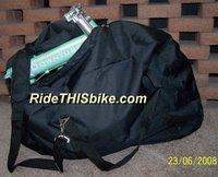 Kent Folding Bike Compact Carry Bag - Unfolded w/DownTube Mini inside