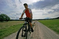 Colin cycling near the Danube River