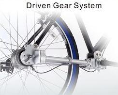 Chainless shaft driven folding bike