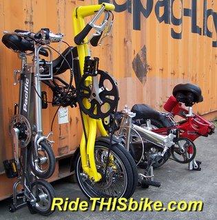 Folding bike showdown: CarryMe, E-Z Pack, Strida 5 + Superlite