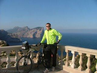 Will Wattles and Montague MX folding mountain bike - Formentor, Mallorca
