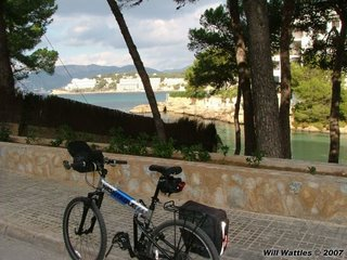 Montague MX folding bike in Mallorca Spain