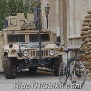 Paratrooper folding bike in Baghdad IZ