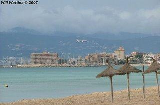 Plane landing - Palma, Mallorca, Spain