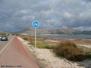 Signed bike route, Pollenca - Mallorca