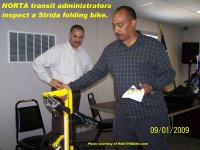 Strida folding bike - NORTA meeting