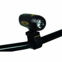 Vega LED head light mounted on handlebars